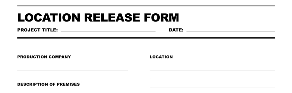Location Release Form | Free Download Location Release Form