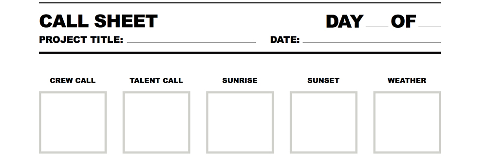 Perfect Call Sheet Screenshot