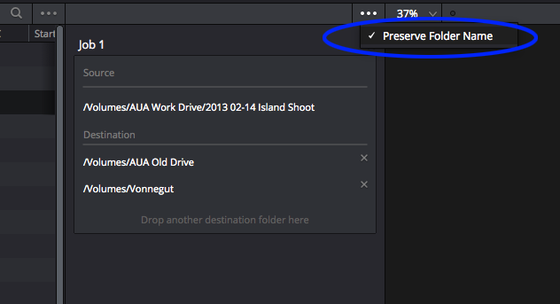 DaVinci Resolve's New Clone Tool: preserve folder name