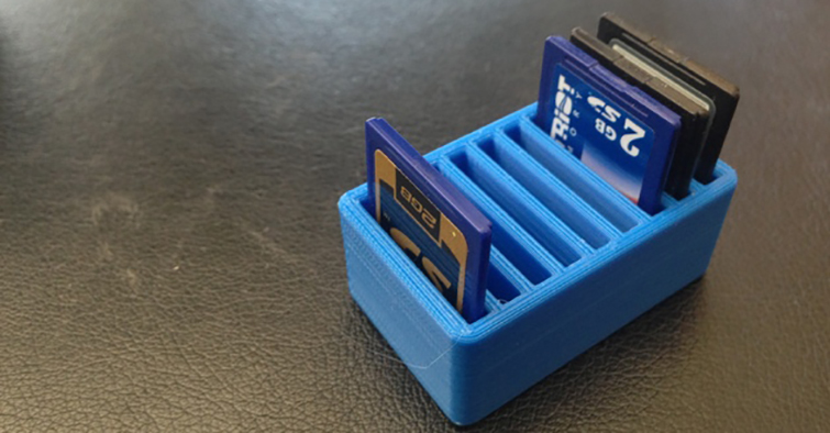 20 Pieces of Film Gear You Can Print With a 3D Printer: SD Card Holder