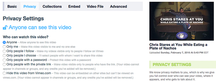 Vimeo Hack: How to Boost Your Vimeo Page - Vimeo Privacy