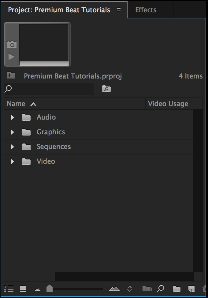 Different Ways to Move Video Onto Your Premiere Pro Timeline: Project Panel