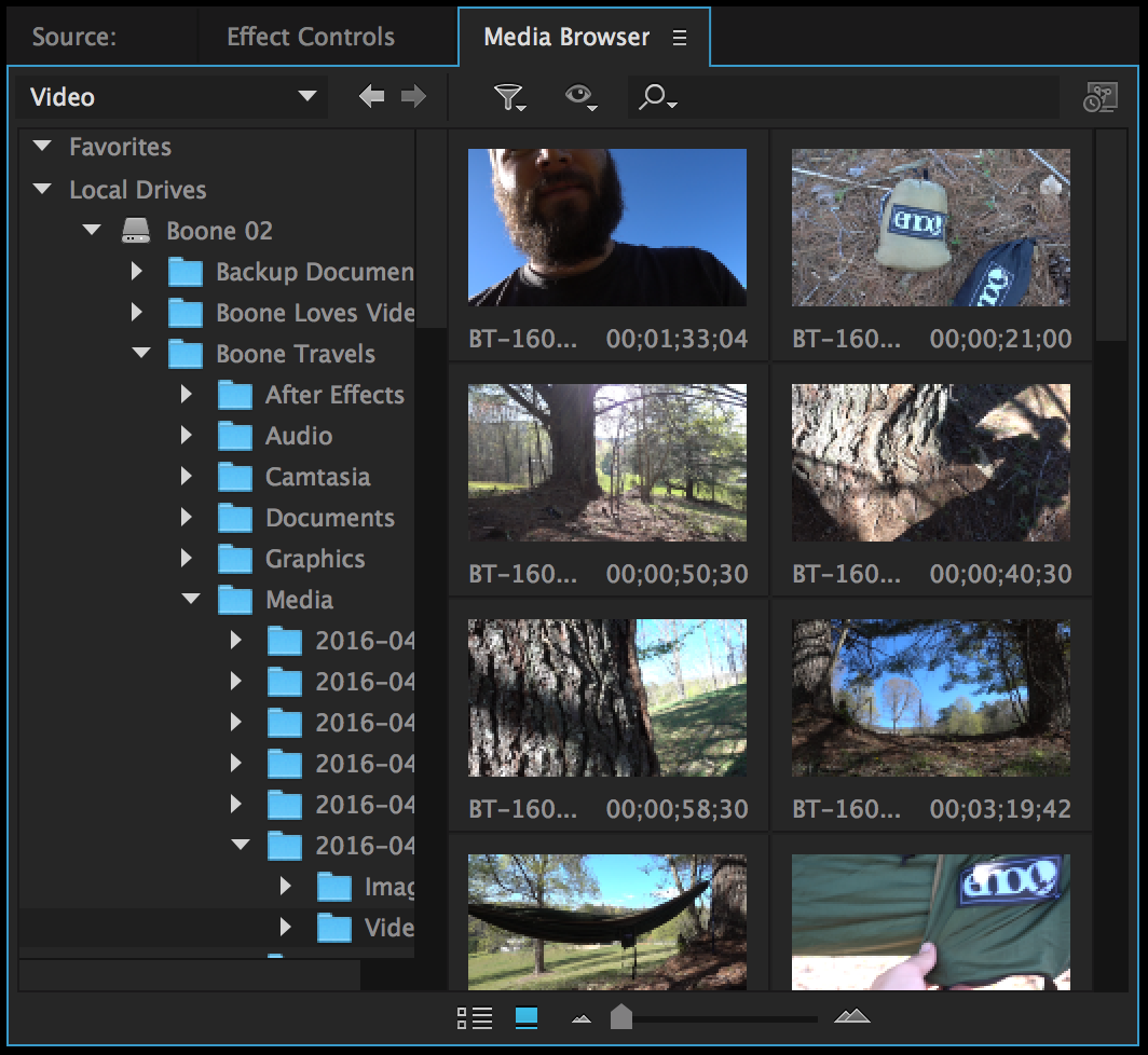 Different Ways to Move Video Onto Your Premiere Pro Timeline: Media Browser