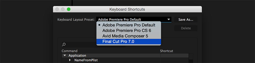 How to Change Premiere Pro Keyboard Shortcuts to Final Cut Pro Shortcuts, Step 2