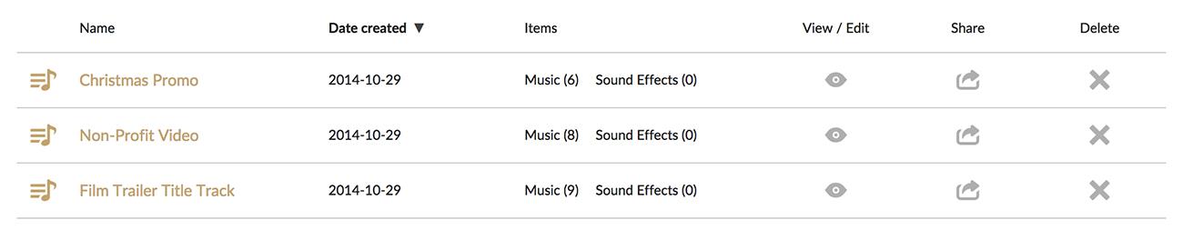 PremiumBeat Playlists