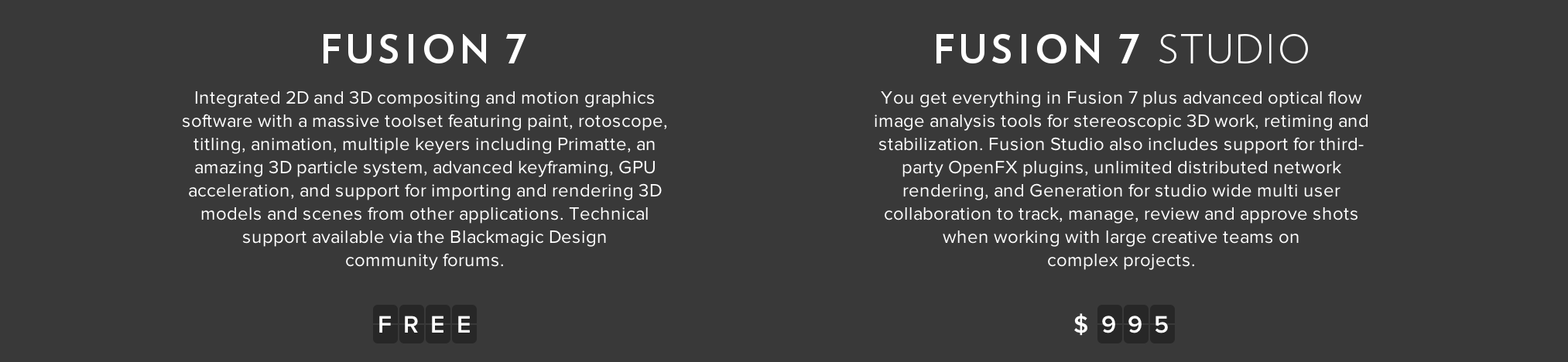 Blackmagic Releases Eyeon Fusion 7 Free to VFX Artists - The