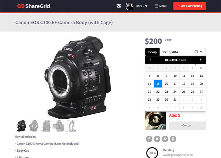 Camera With Calendar