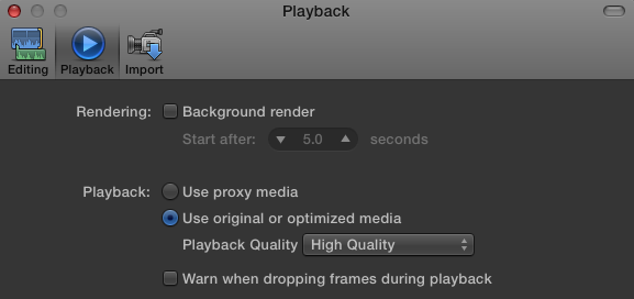 Premiumbeat FCPX Playback