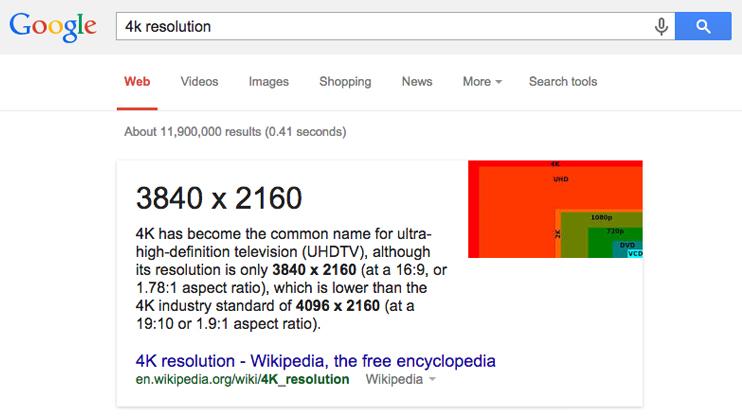 Google 4k Search