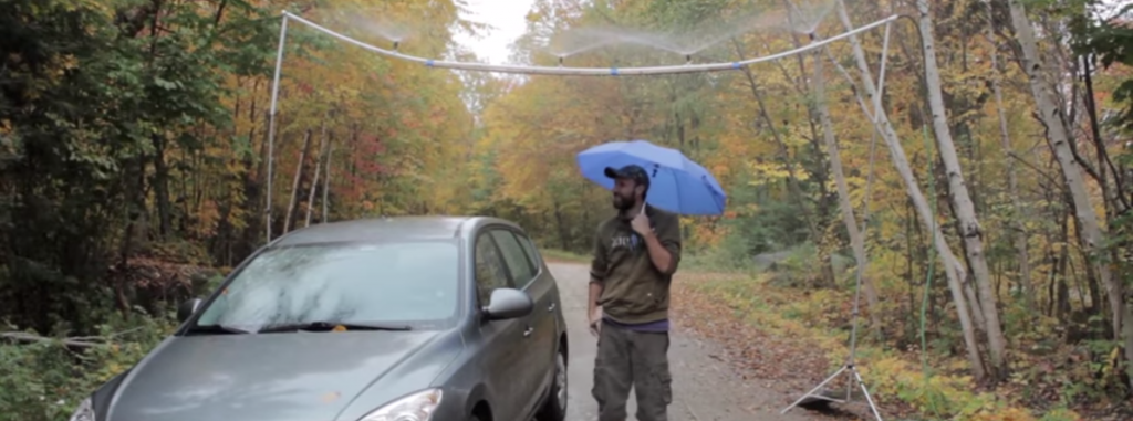 Rugged DIY Rain Machine