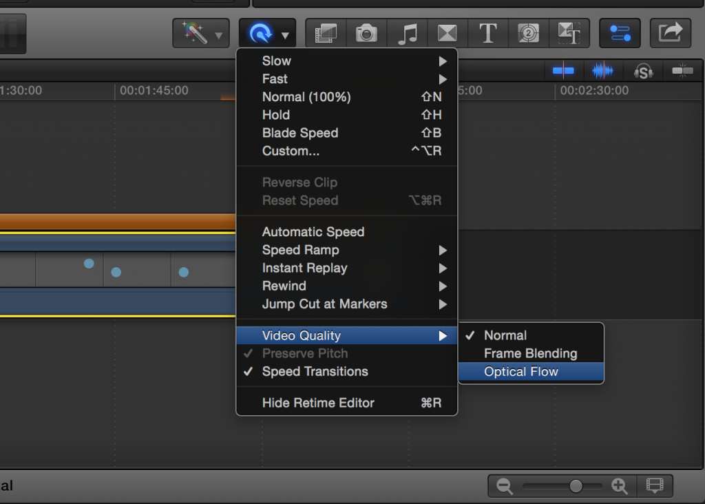 Optical Flow in FCPX