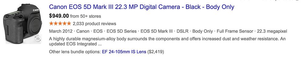 Canon Mark III Deal
