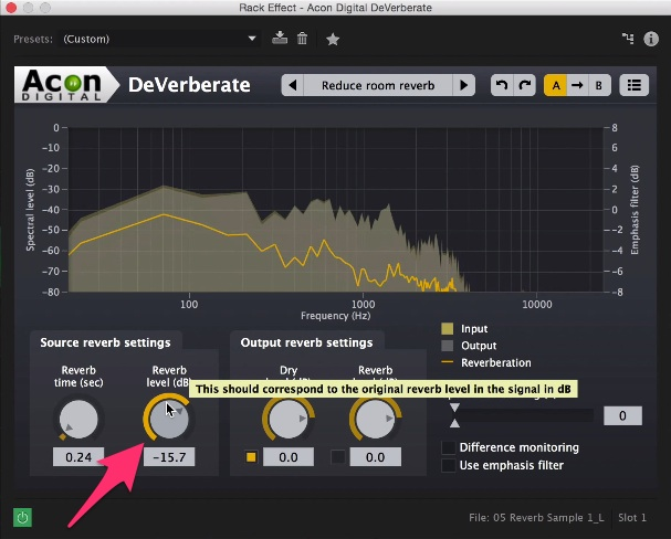 Tips and Tricks: Removing Echo and Reverb From Audio: Acon Step 3