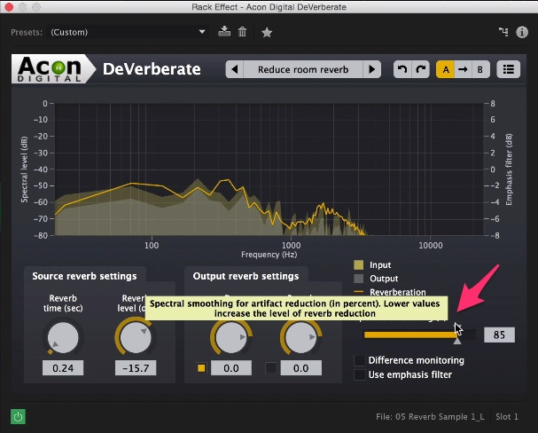 Tips and Tricks: Removing Echo and Reverb From Audio: Acon Step 4