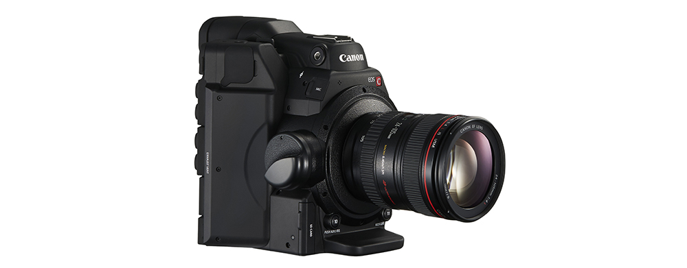 Canon C300 Mark II: Diagonal View