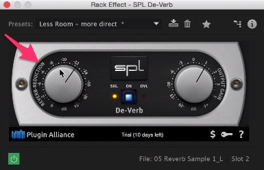 Tips and Tricks: Removing Echo and Reverb From Audio: SPL Step 2