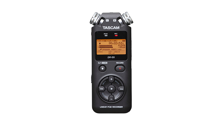 10 Audio Accessories Under $100: Tascam DR-05 Portable Recorder