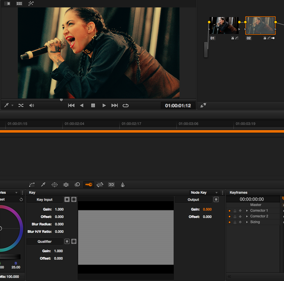 DaVinci Resolve Tutorial: fifty percent key