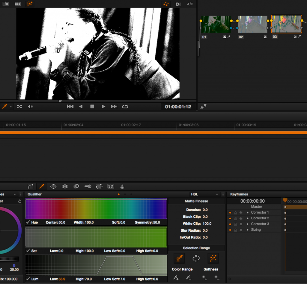DaVinci Resolve Tutorial: more complex qualification