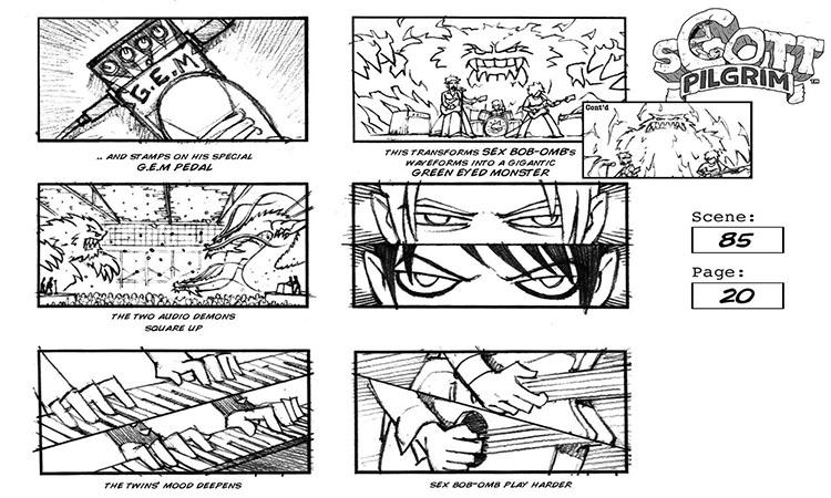 Storyboarding: Scott Pilgrim Storyboard