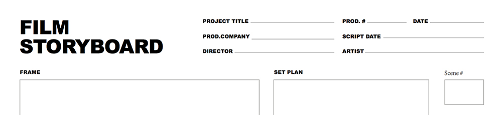 Storyboard Template For Film And Video Projects