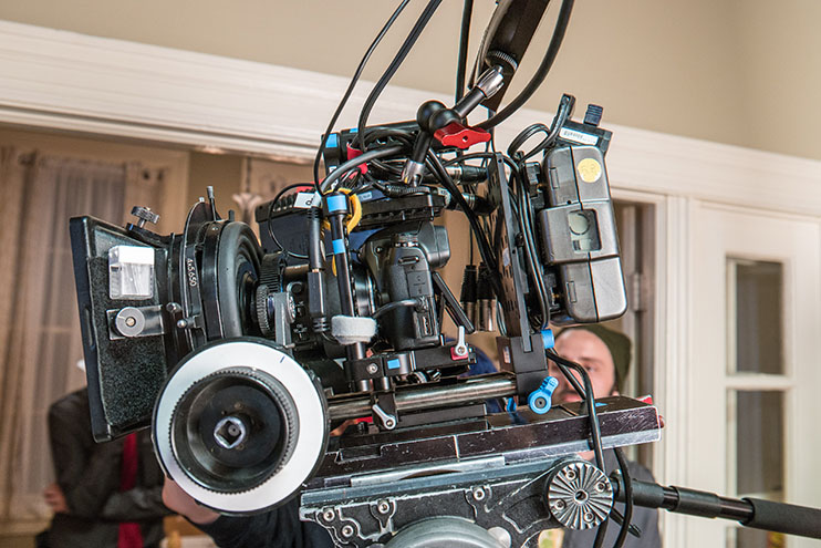 Creating A Professional-Looking Short In 4K: A full kit Samsung NX1 designed for motion picture capture.