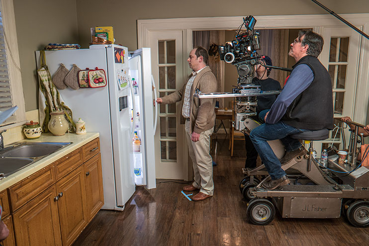 Creating A Professional-Looking Short In 4K: On a dolly, cinematographer Robert Brinkman - Samsung NX1