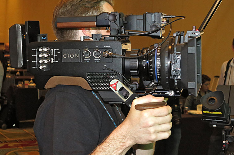 AJA CION in use