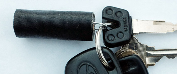 7 Creative Things to Do With Gaff Tape: Gaff Key Fob!