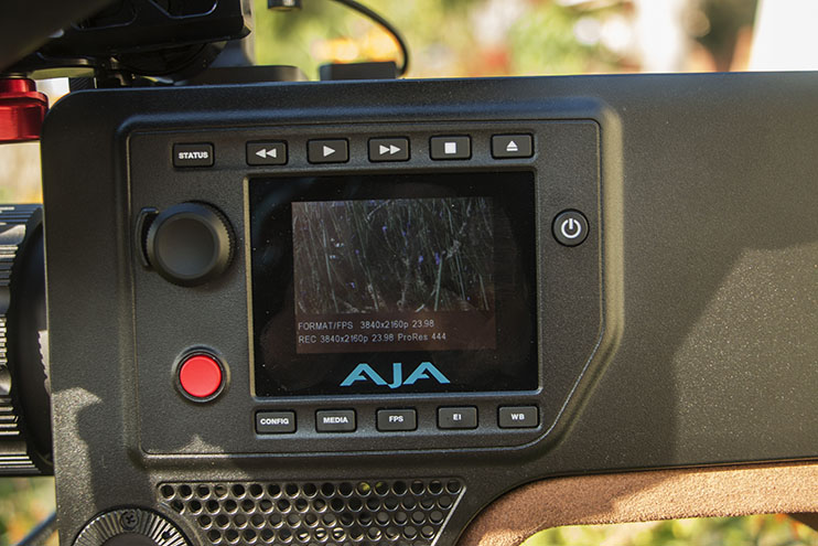 AJA CION camera settings