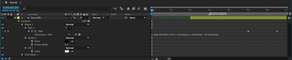 reveal all animated properties in after effects