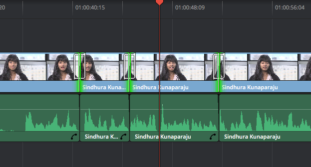 DaVinci Resolve's Smooth Cut Transition: Result Smooth Cut