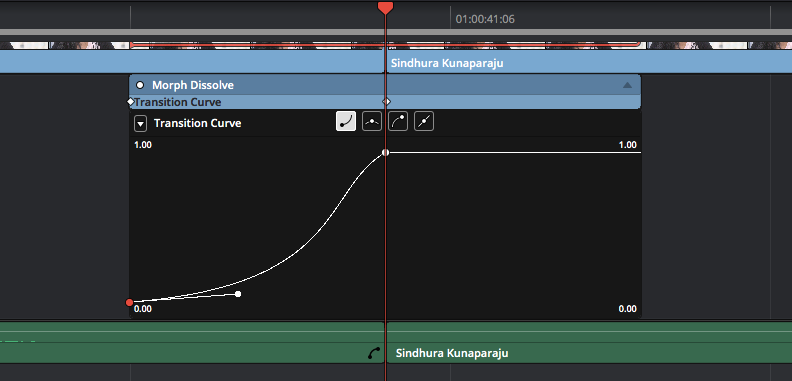DaVinci Resolve's Smooth Cut Transition: Transition Curve