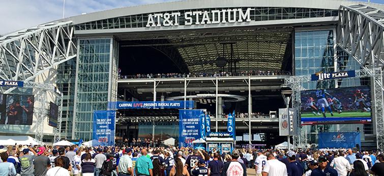 ATT Stadium Plaza Game Day