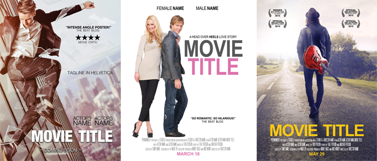 Freebie: Movie Marketing Pack - Demo Movie Template Posters