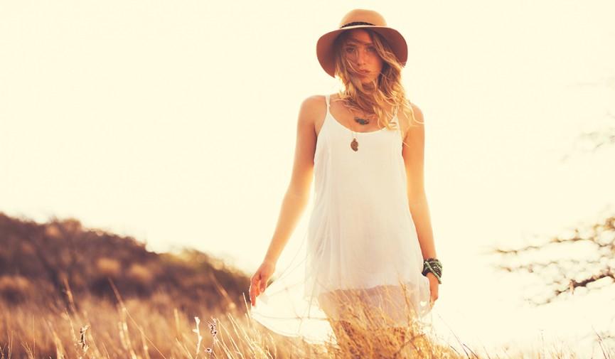 Model at Sunset