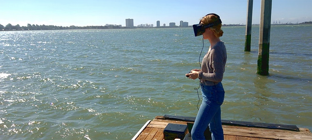This New Drone Can 'Fly' Underwater: Girl Using Oculus