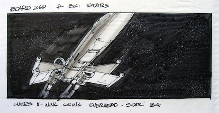 The Art Department: Design, Construction, Decor, and Props: Star Wars Storyboard