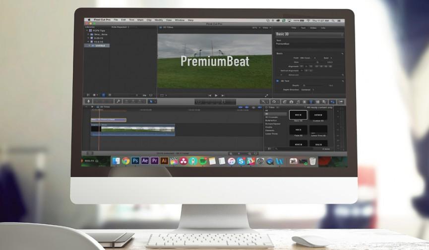 3D text in Final Cut Pro X Cover