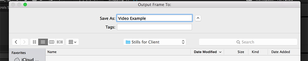 Quick Tip: Saving Stills in After Effects - Step 3.5