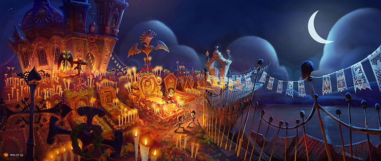Mexican Culture in Film: concept art, book of life