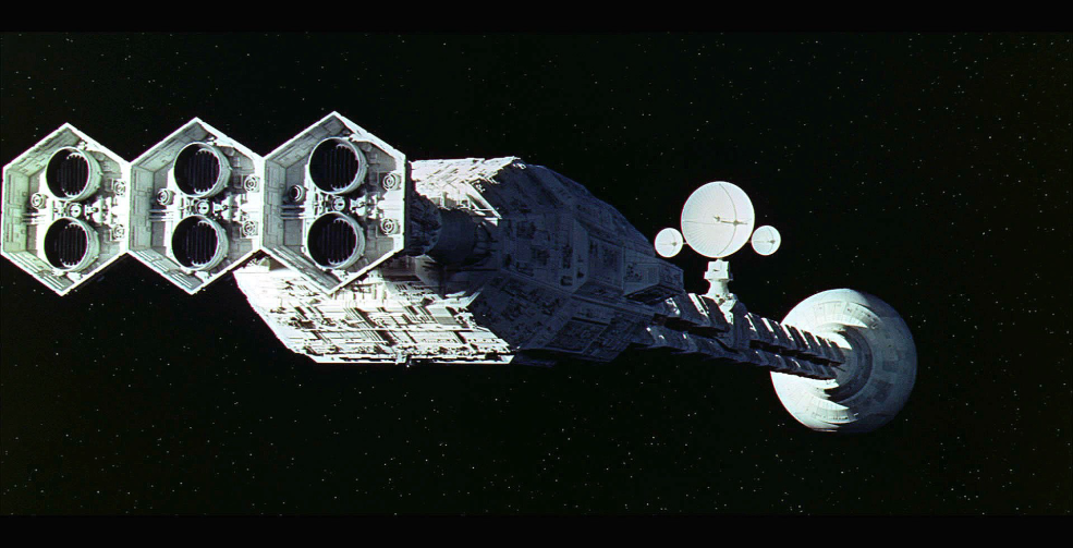 Cinematography Tip: Creating the Illusion of Scale - 2001 ship