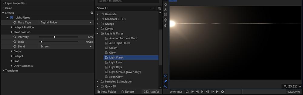 HitFilm 4 Pro: Lens Flares
