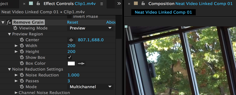 Clean up Noisy Video in Premiere Pro, Step 3.