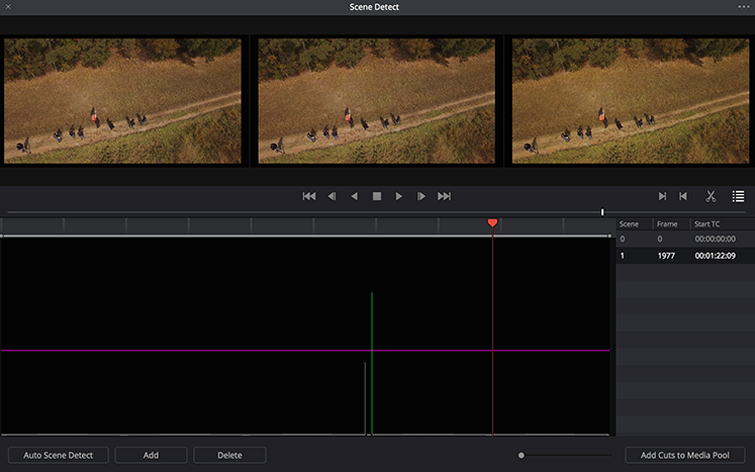 DaVinci Resolve Tip: Use an EDL and Scene Cut Detection to Set up a Project - Scene Cut Detect