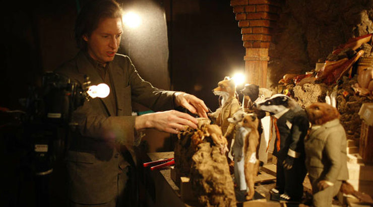 The Power of the Tableau Shot : Wes Anderson on the set of Fantastic Mr. Fox