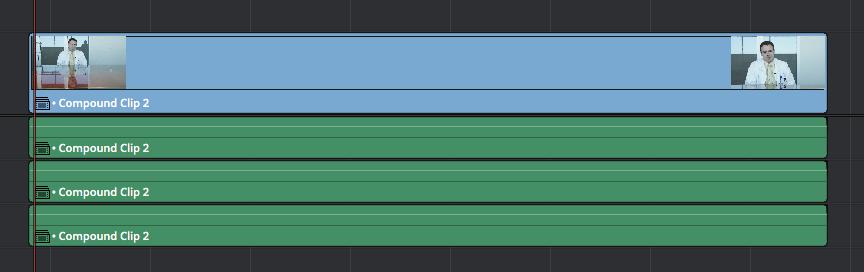 Using Compound Clips in DaVinci Resolve: multiple mono option