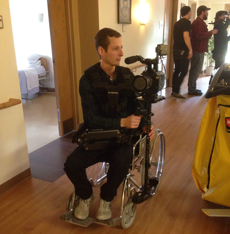 5 Simple Cinematography Hacks for Under $50: wheelchair dolly hack