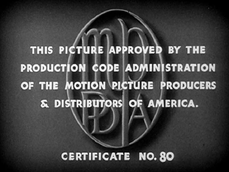 Where Do Film Ratings Come From? Cleopatra Production Code Certificate