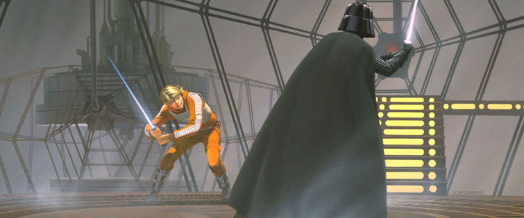 Creating the Cloud City Duel from The Empire Strikes Back: Cloud City Duel by Ralph McQuarrie